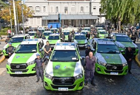 Andreotti presentó 16 nuevas patrullas municipales de Protección Ciudadana