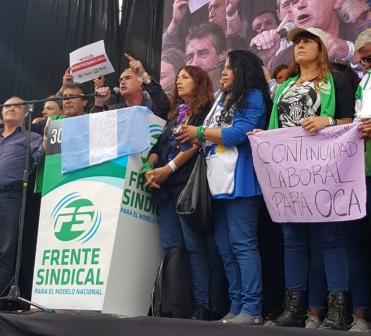 En Plaza de Mayo, gremios opositores cargaron contra el gobierno y pasaron factura a la cúpula de CGT