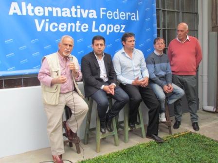 Se presentó el espacio de Alternativa Federal en Vicente López