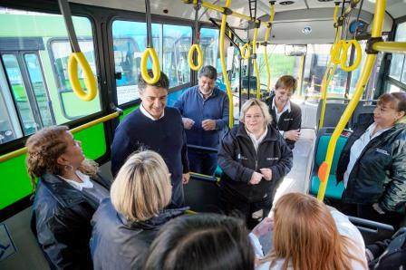 Vicente López inauguró un nuevo recorrido del Transporte del Bicentenario