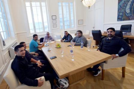 Julio Zamora se reunió con el Sindicato del Personal de Frigoríficos de la Carne