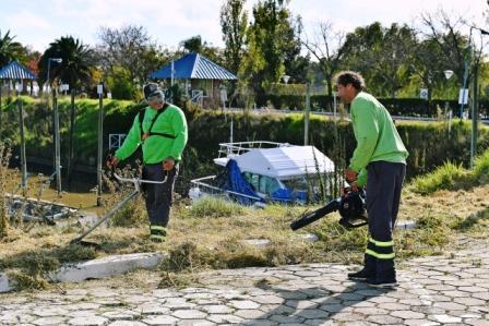 San Fernando comenzó las tareas de limpieza del terreno recuperado que ampliará la costa