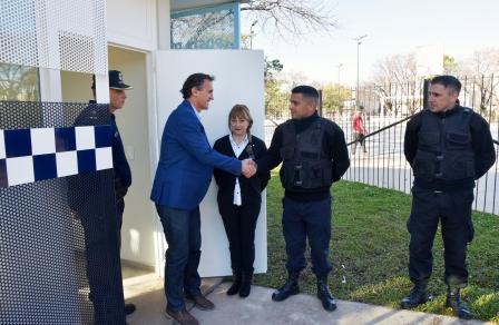 Katopodis inauguró una nueva posta de seguridad en Villa Ballester