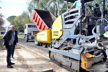 Avanzan las obras de gas y pavimentos en Benavidez