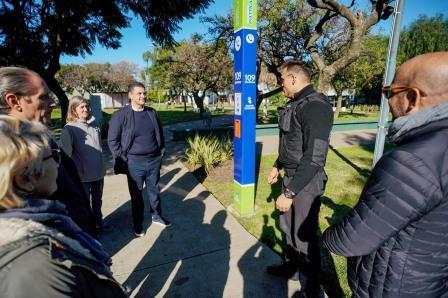 Vicente López suma nuevos Puntos Seguros en plazas y corredores escolares