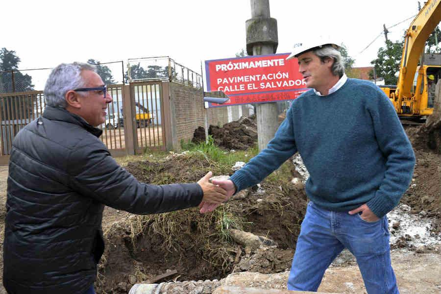Julio Zamora recorrió importantes obras para los vecinos de Benavídez