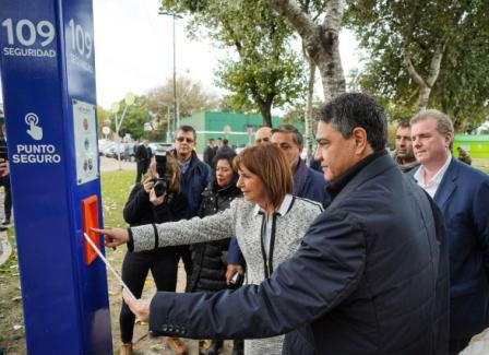 El intendente Jorge Macri recorrió los puntos seguros junto a Patricia Bullrich
