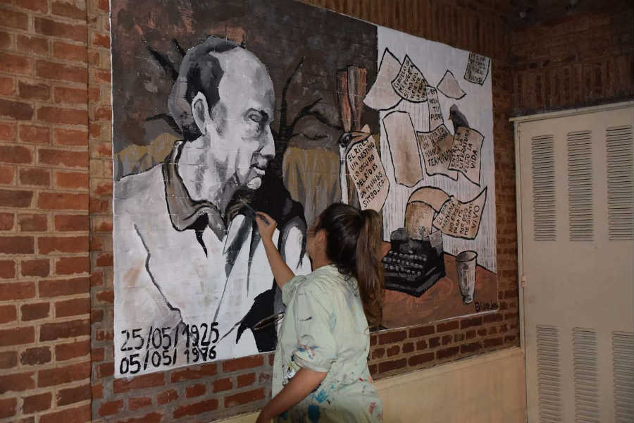 Tigre inauguró un mural en memoria del recordado escritor Haroldo Conti