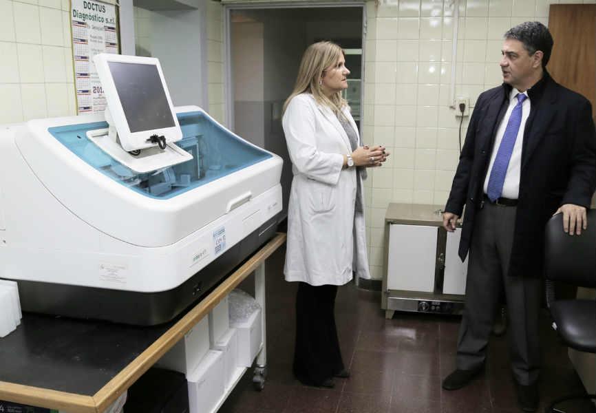 El intendente Jorge Macri, acompañado del secretario de Salud, Fernando Tejo, recorrió las nuevas instalaciones de la sala del servicio de hemoterapia en el Hospital Houssay (Hipólito Yrigoyen 1757).
