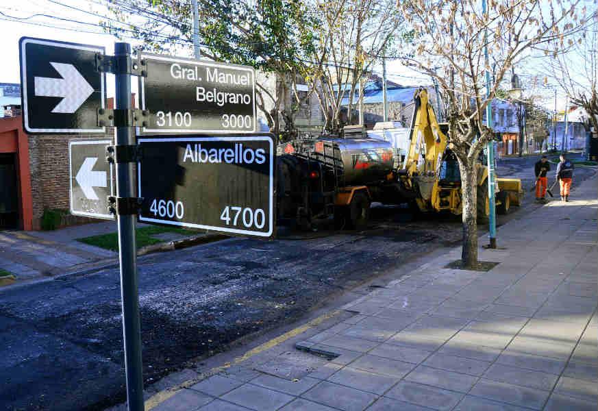 Avanza el plan de asfalto en Vicente López