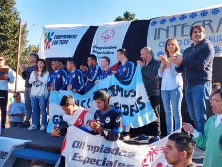Malena Galmarini lanzó en Tigre la Liga de Fútbol Especial 2019