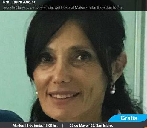 Laura Abojer, jefa del servicio de Obstetricia del Hospital Materno Infantil de San Isidro.
