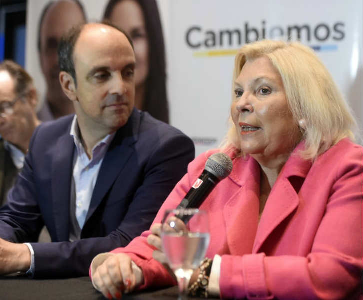 """Carrió respaldó la fórmula Macri Pichetto y dijo que el peronista """"agrega gobernabilidad"""" a Cambiemos"""