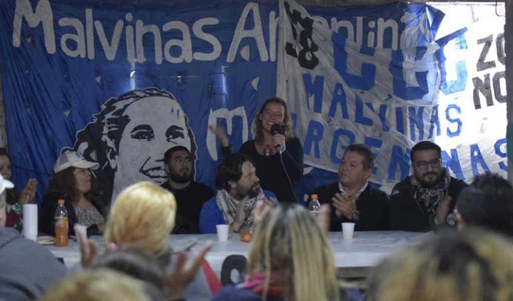 La diputada Patricia Cubría cerró el plenario del Movimiento Evita en Malvinas Argentinas