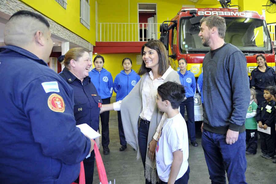 En Benavídez, el municipio reconoció la labor de los bomberos voluntarios