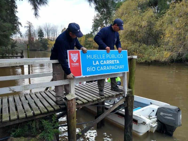 El municipio coloca nueva señalética en más arroyos y ríos del Delta