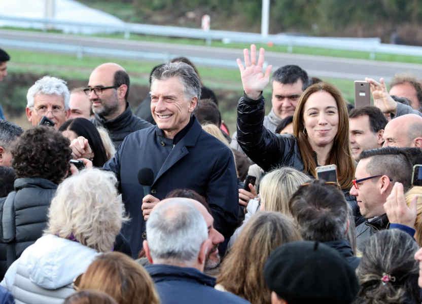 Vidal acompañó a Macri en la inauguración de un nuevo tramo de la ruta nacional n°7 en San Andrés de Giles,