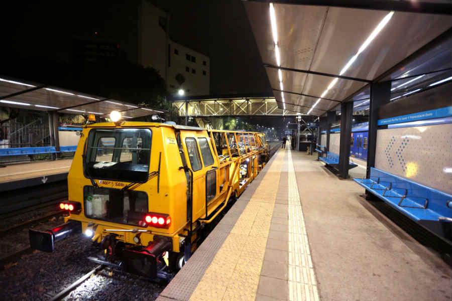 Tren San Martín: finalizó la obra de vías entre Muñiz y Cabred