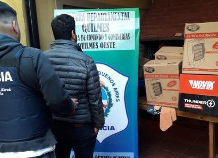 """Detienen a """"empleados infieles"""" por desvalijar poco a poco una fábrica de estufas en Quilmes"""