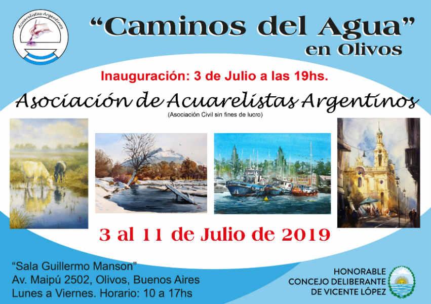 Se inaugura hoy una muestra de acuarelas en el Concejo Deliberante de Vicente López