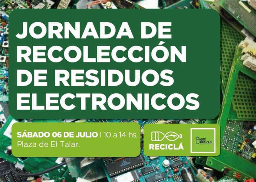 Tigre organizará una jornada de recolección de residuos electrónicos en El Talar