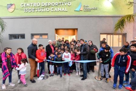 Andreotti inauguró el renovado Club 13 de Julio en San Fernando