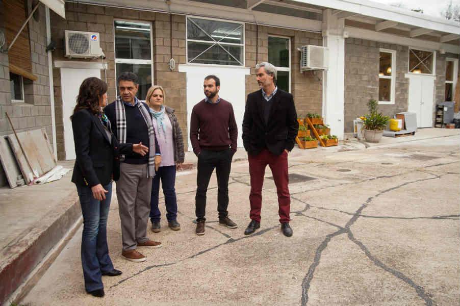 Jorge Macri y la ministra Stanley, en el avance de las obras en el Polo Educativo Laboral de Vicente López