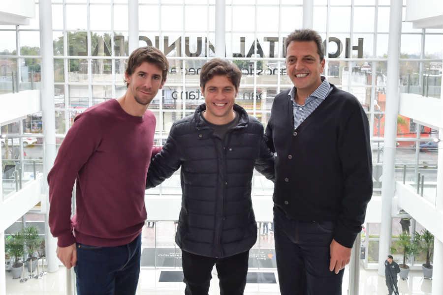 Kicillof y Massa estuvieron juntos en San Fernando y apuntaron a Vidal