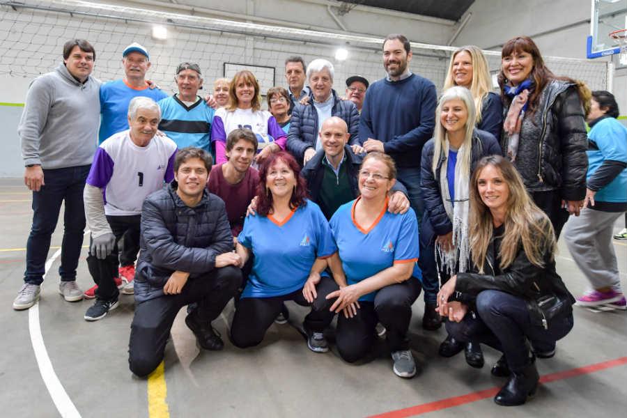 Kicillof y Massa estuvieron juntos en San Fernando y apuntaron a Vidal ()