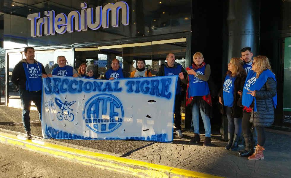 ATE Tigre realizó una protesta en el Casino Trilenium