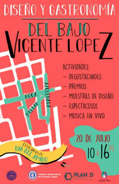 Encuentro de Diseño y Gastronomía en el Bajo de Vicente López para festejar el Día del Amigo