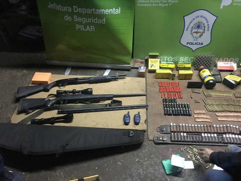 Cayó en San Miguel una banda que vendía estupefacientes y alquilaba armas a delincuentes
