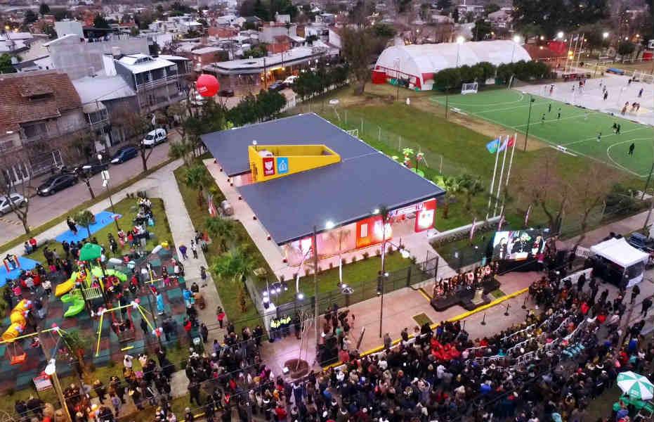Julio Zamora inauguró el primer Jardín Municipal en Don Torcuato