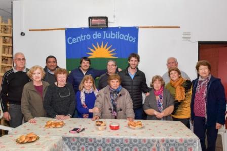 Juan Andreotti visitó centros de jubilados de San Fernando