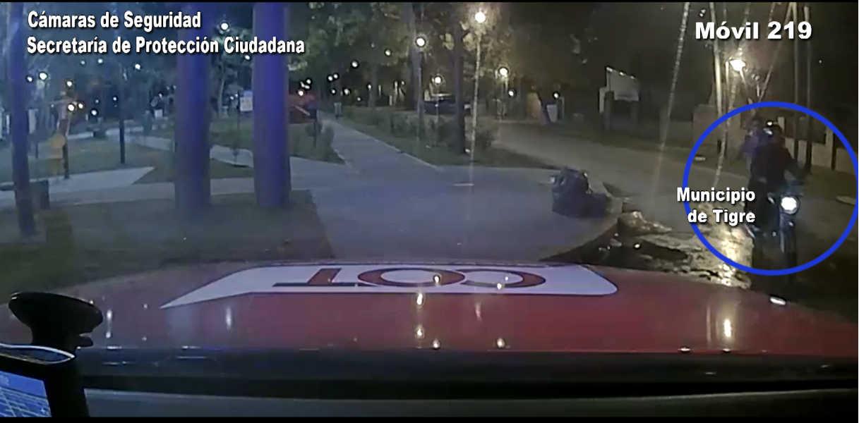 Por las cámaras de Tigre se pudo recuperar una motocicleta robada en Benavidez