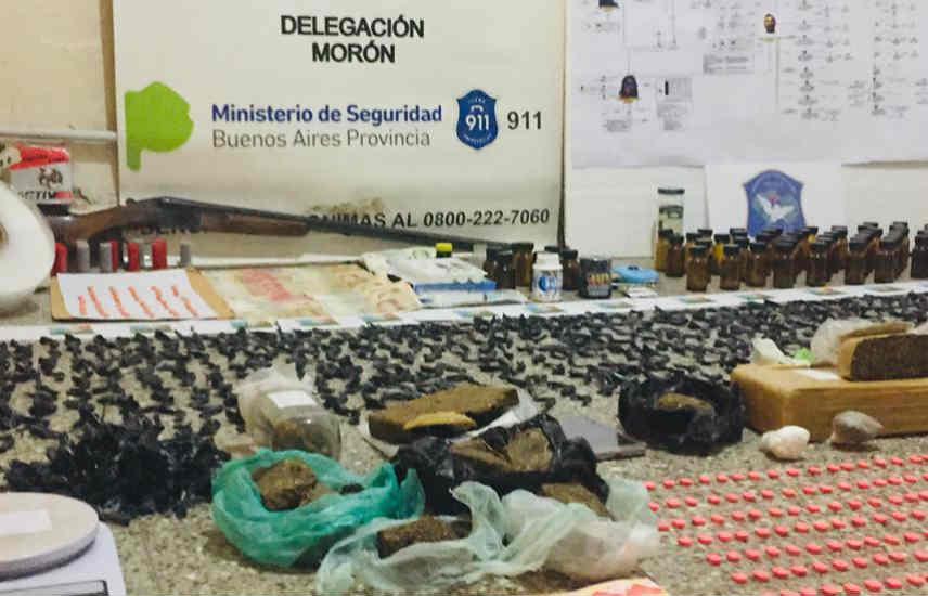 Desbaratan una banda que distribuía drogas en diferentes localidades del conurbano y Capital Federal