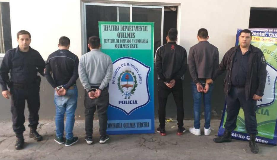 Detienen a tres chilenos y un argentino que realizaban entraderas en Quilmes