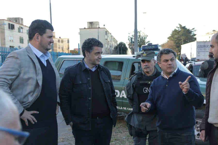 López Medrano recorrió con Jorge Macri y Eugenio Burzaco la zona limítrofe con San Martín