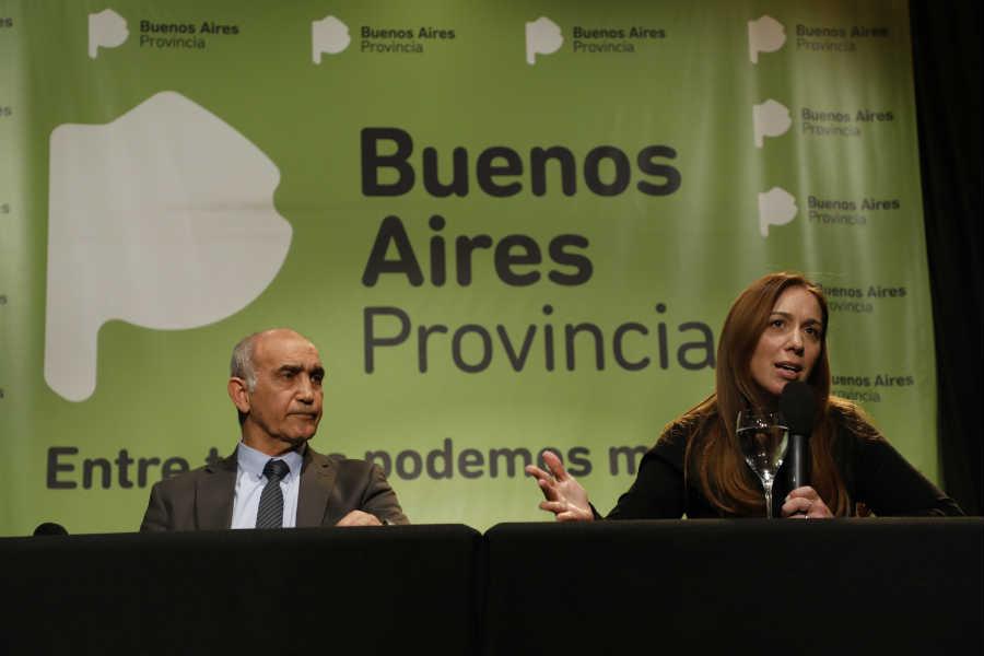 María Eugenia Vidal y Daniel Salvador Tras la derrota en las Paso