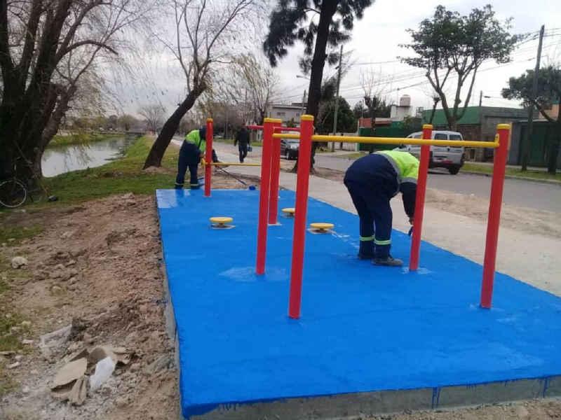 Tigre avanza en la construcción de una nueva senda aeróbica en Troncos del Talar