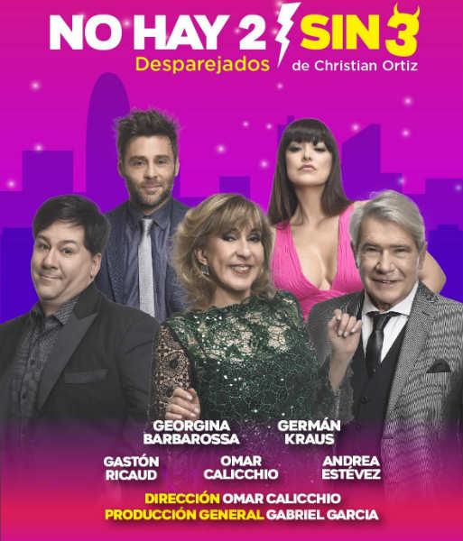 """se destacan """"No hay 2 sin 3"""", con Georgina Barbarrosa"""