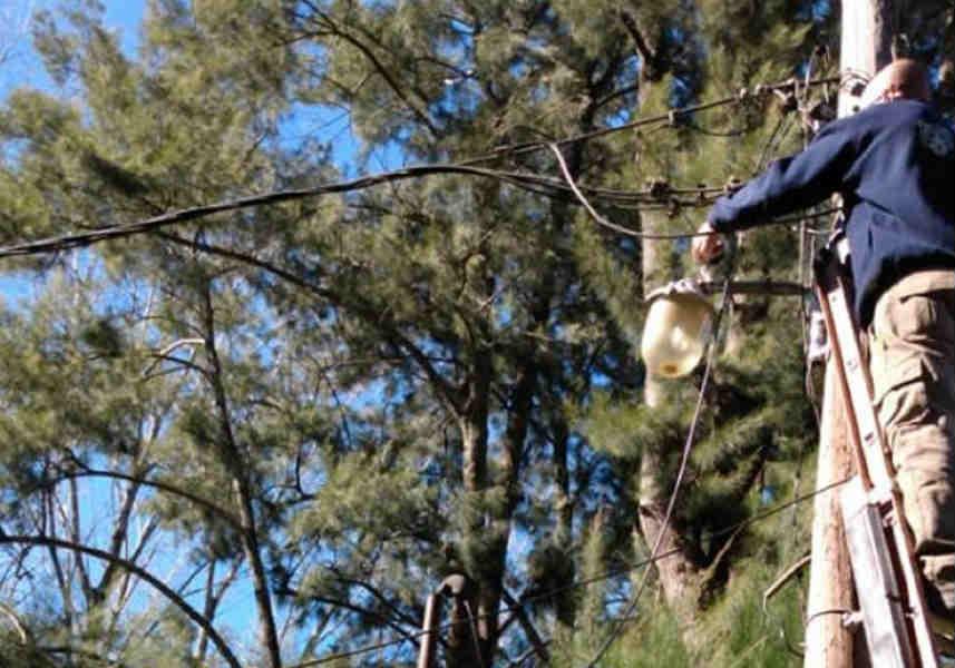 Reparación de luminarias públicas y muelles en el Delta de Tigre