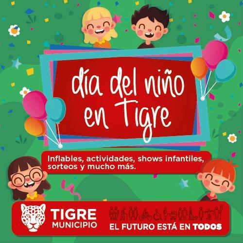 El Día del Niño se festeja en los parques y plazas del Municipio de Tigre