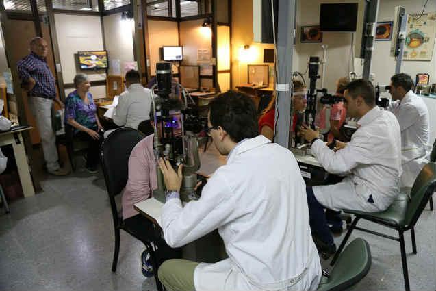 Campaña de prevención de la ceguera por diabetes en San Isidro