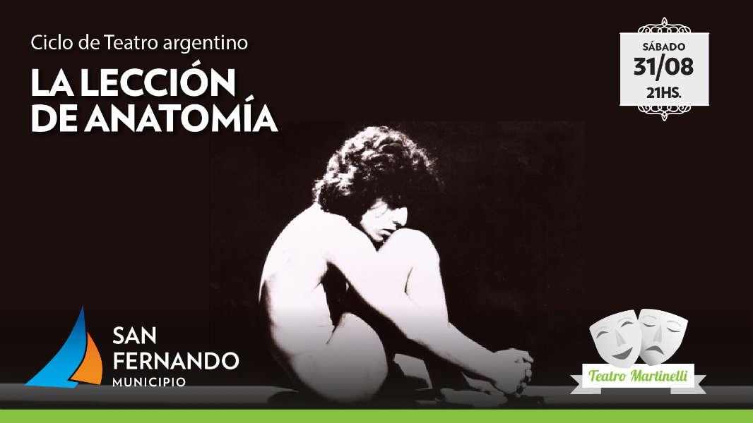 """La """"Lección de Anatomía"""" llega al Teatro Martinelli de San Fernando"""
