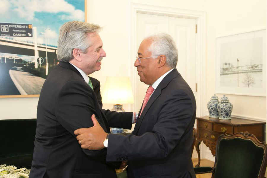 Alberto Fernández, se reunió con el primer ministro de Portugal, Antonio Costa