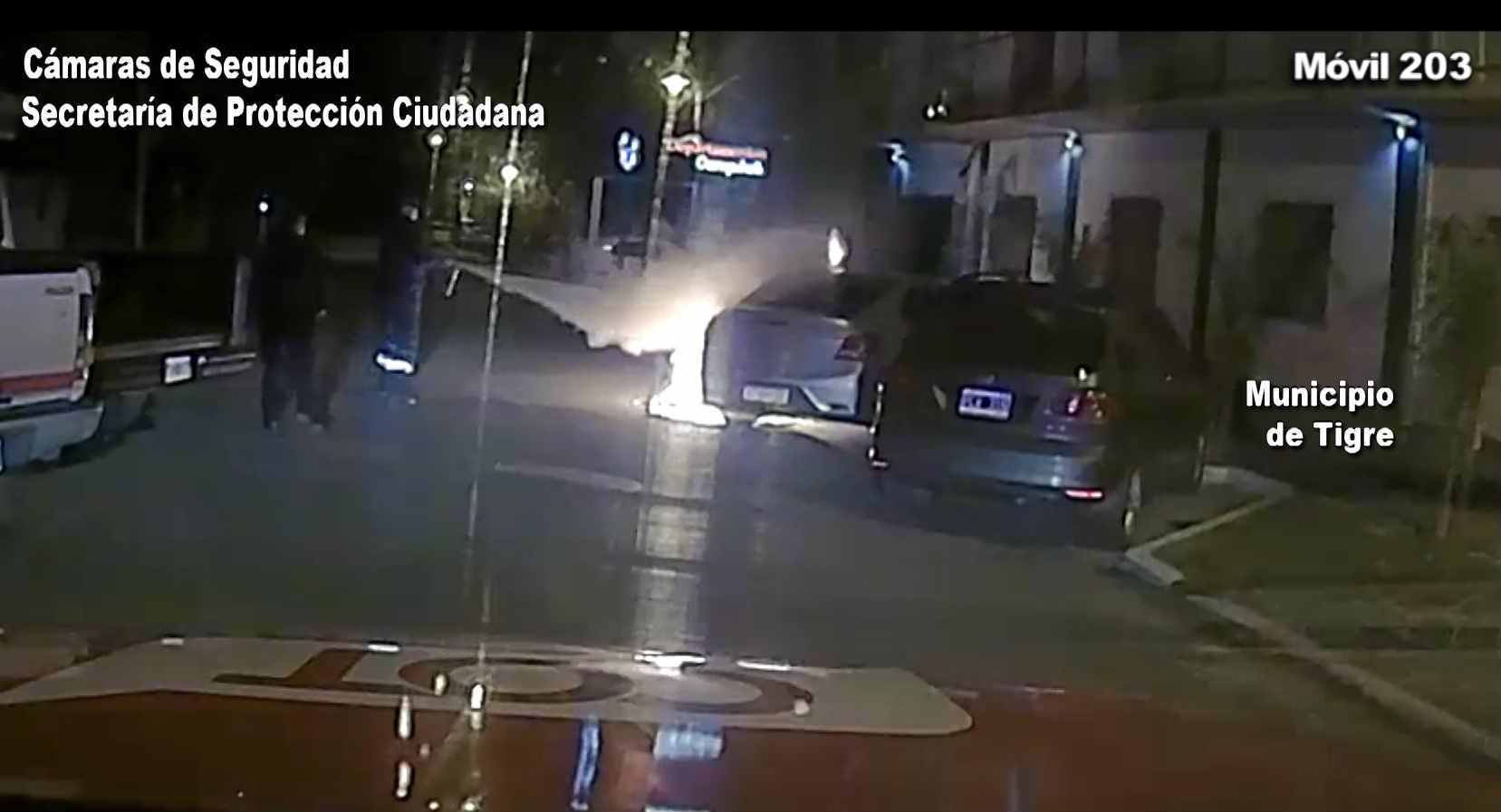 Incendió un auto en Pacheco y fue detenido