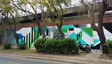 "Llega a Vicente López un nuevo mural de ""Viví Arte"""