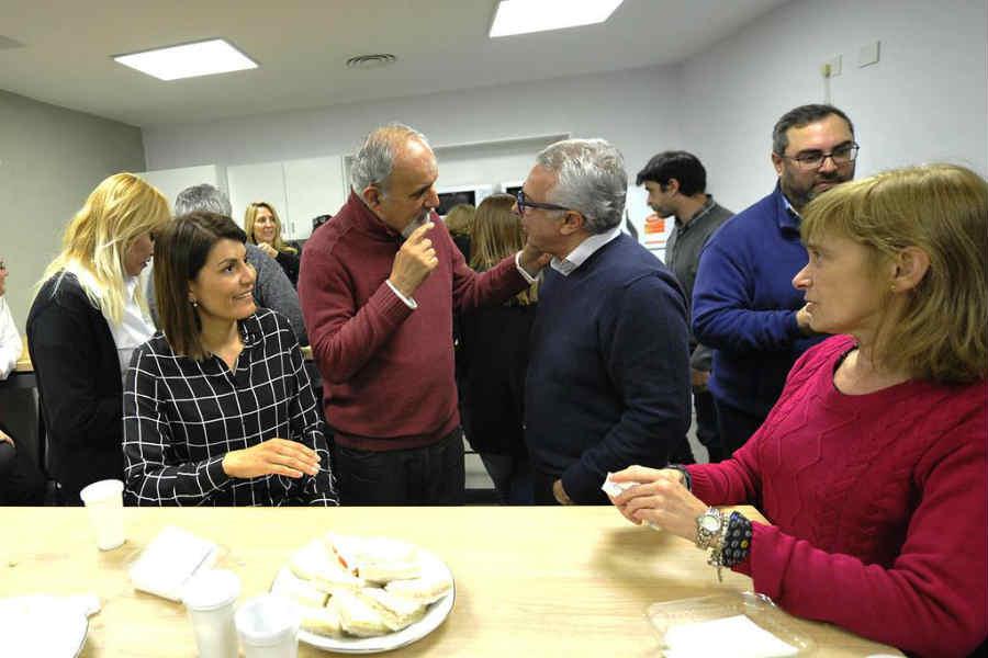 Julio Zamora inauguró en el Palacio Municipal de Tigre el nuevo comedor para empleados