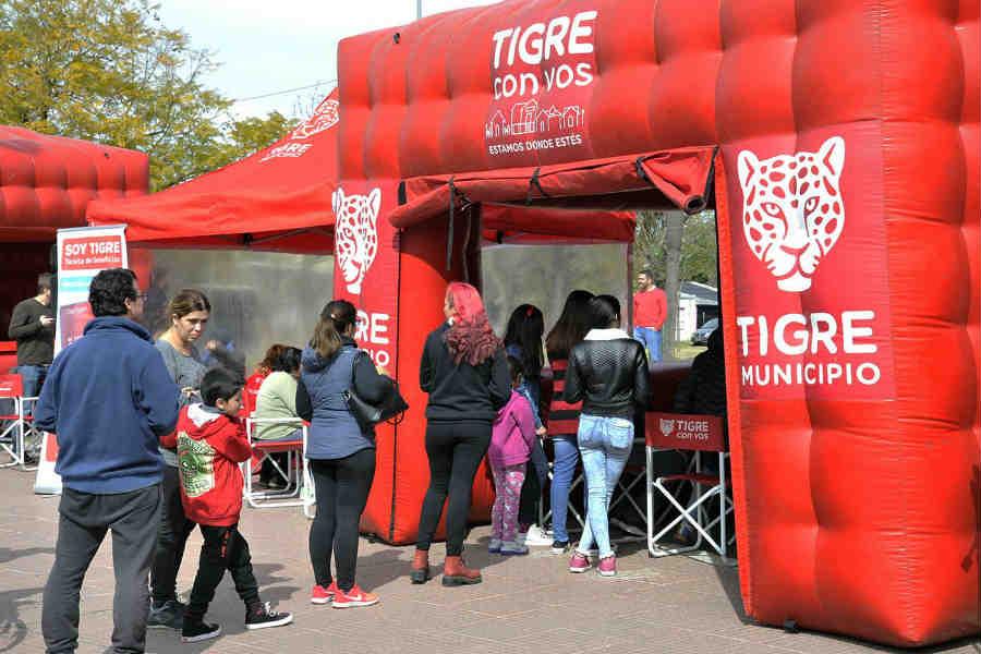 """En Don Torcuato, los vecinos podrán realizar trámites en un nuevo """"Tigre con vos"""""""